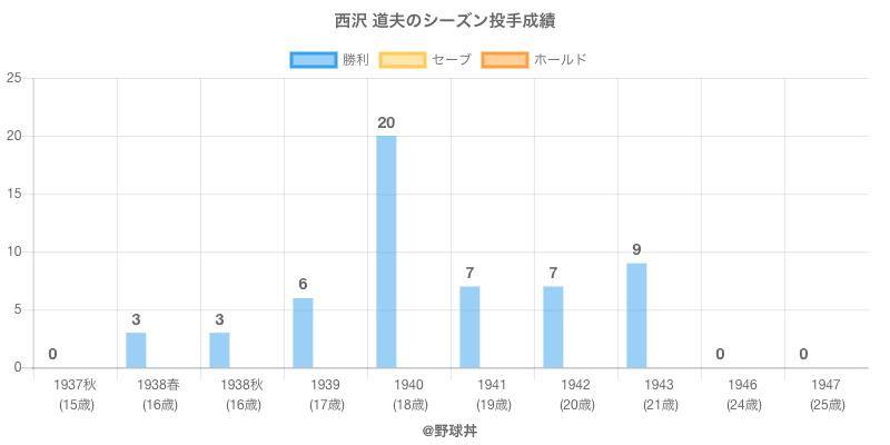 #西沢 道夫のシーズン投手成績