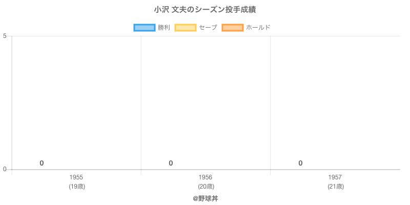 #小沢 文夫のシーズン投手成績