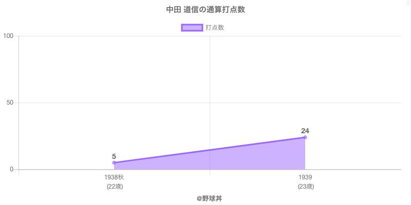 #中田 道信の通算打点数
