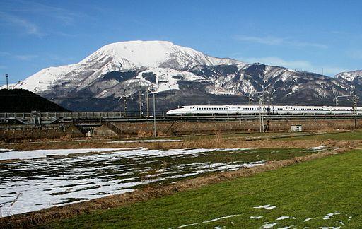 Mount ibuki and n700 series shinkansen