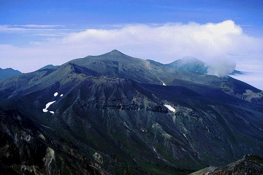 Mount tokachi from mount biei 1998 8 9