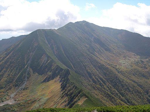 Mt.poroshiridake from mt.tottabetsudake
