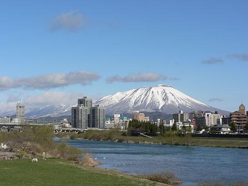Mt. iwate and morioka