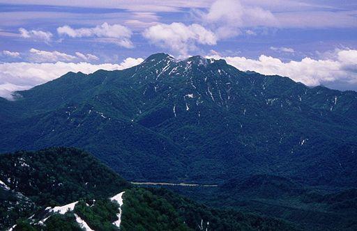 Mount takatsuma from mount hiuchi 1996 6 29