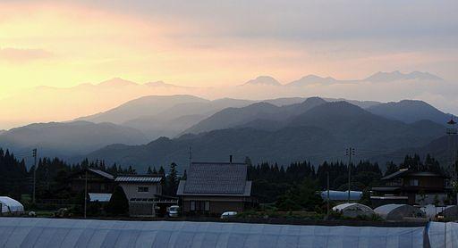 Mount norikura from takayama