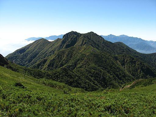 Mt.gongendake from mt.nakadake
