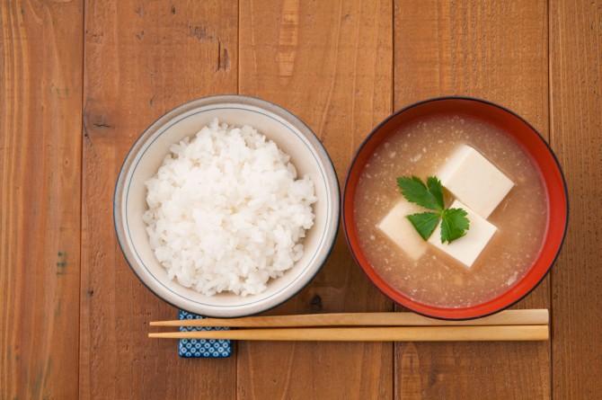 和食 ご飯と味噌汁