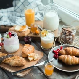 パンを中心とした健康的な朝食