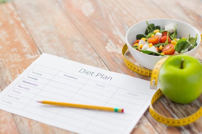健康的なダイエットの計画をたてようとする