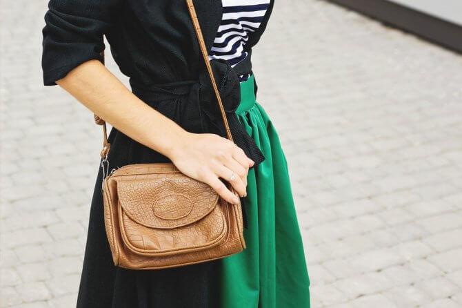 緑のスカート