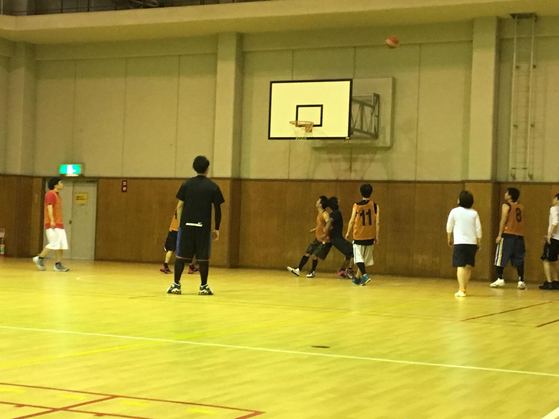 バスケットを楽しむ男女