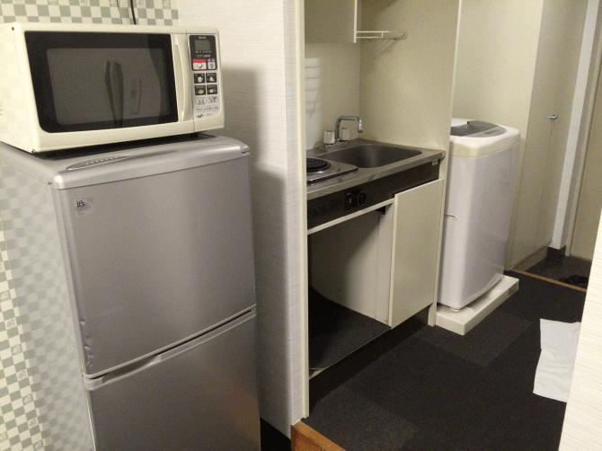 一人暮らしっぽいキッチン
