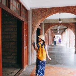 台湾一人旅をしている女性