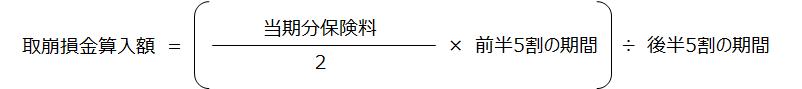 がん保険【取崩損金算入額】