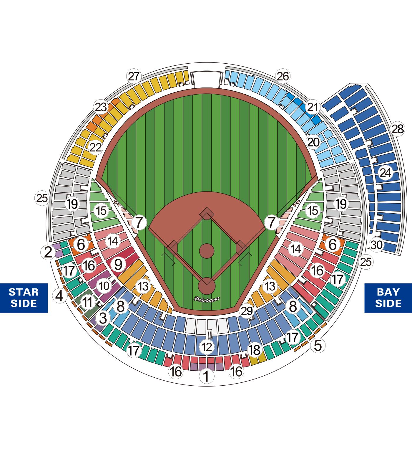 オープン戦座席図 L