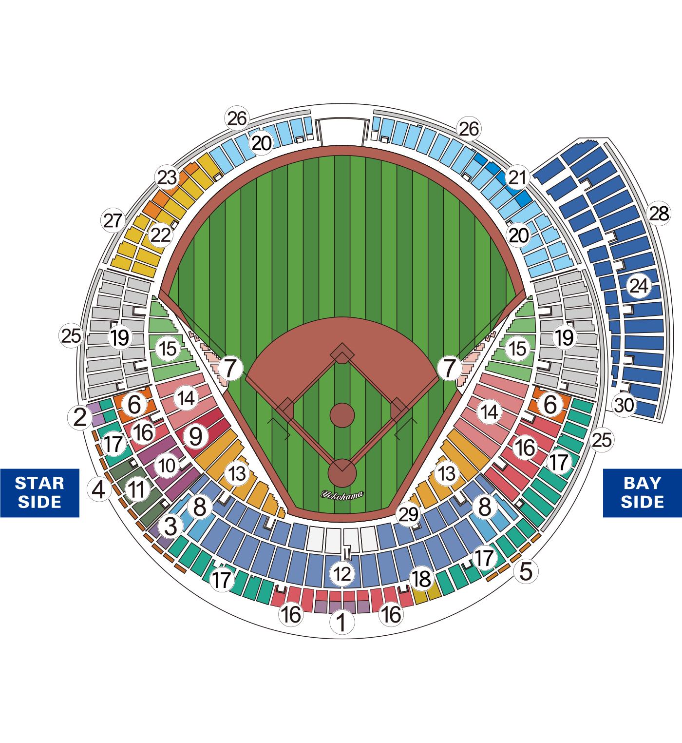 オープン戦座席図 M