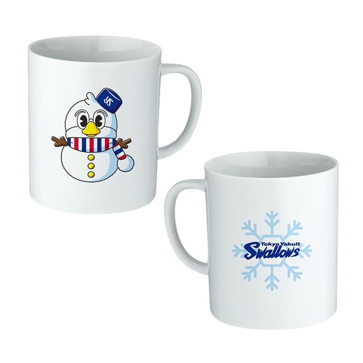 つば九郎雪だるまマグカップ
