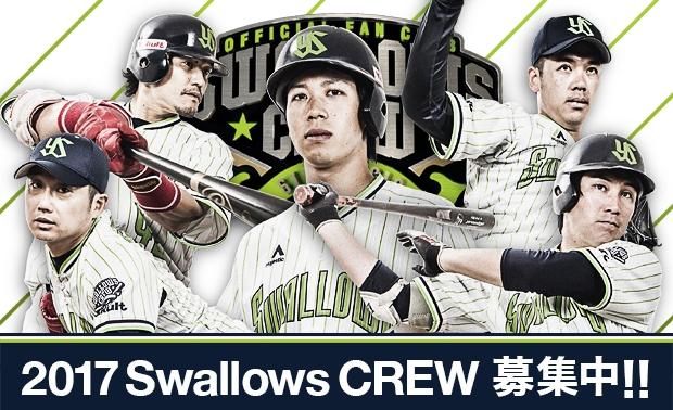 2017 Swallows CREW【スワローズクルー】入会受付のご案内