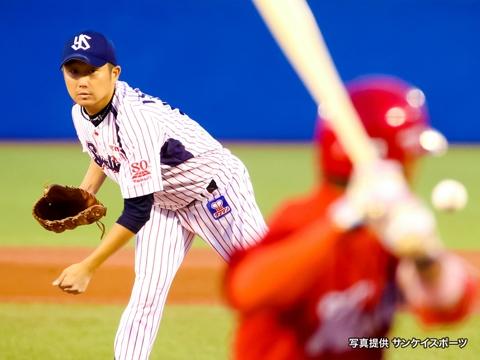 石川投手が5回1失点で9勝目!