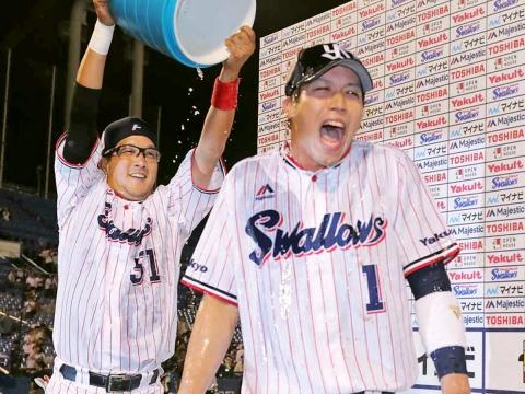 山田選手の16号3ランでサヨナラ勝利!