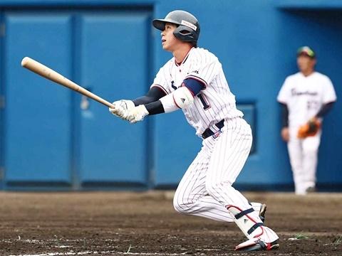 山田選手がオープン戦1号ソロ!