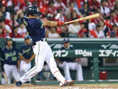 山田選手の自身4本目となる満塁弾