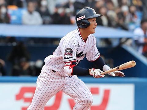 代打でタイムリー三塁打