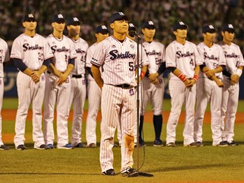 中村選手「神宮で日本シリーズを戦えるように」