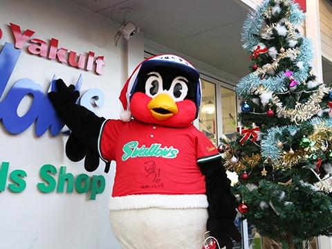 つば九郎が毎年恒例のクリスマスイベントを実施!