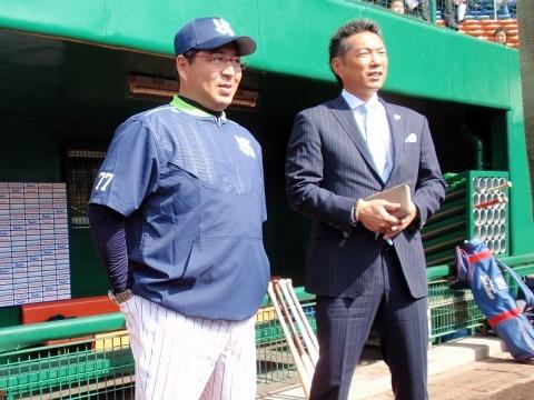 小久保裕紀日本代表監督がキャンプ訪問