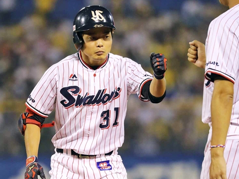 山崎選手がプロ入り初の4安打