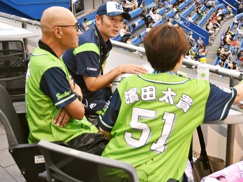 河端氏、徳山氏と試合観戦