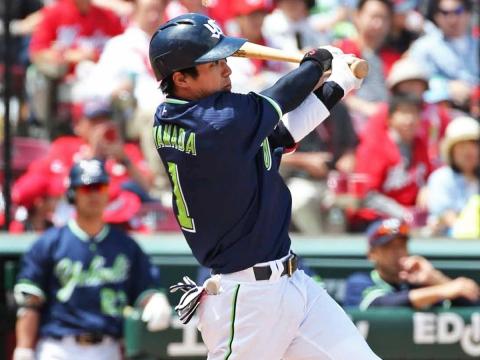 山田選手が4試合連続のマルチ安打