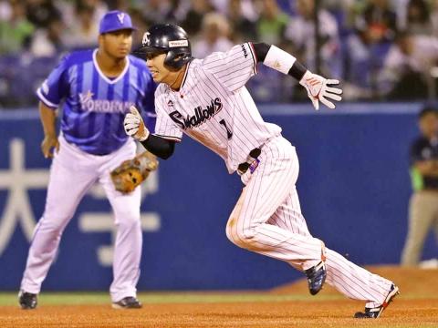 山田選手が3度目のトリプルスリー達成
