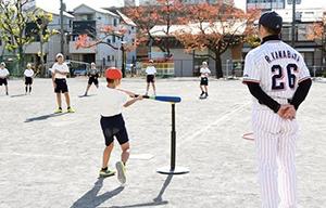 子供たちに野球の楽しさを