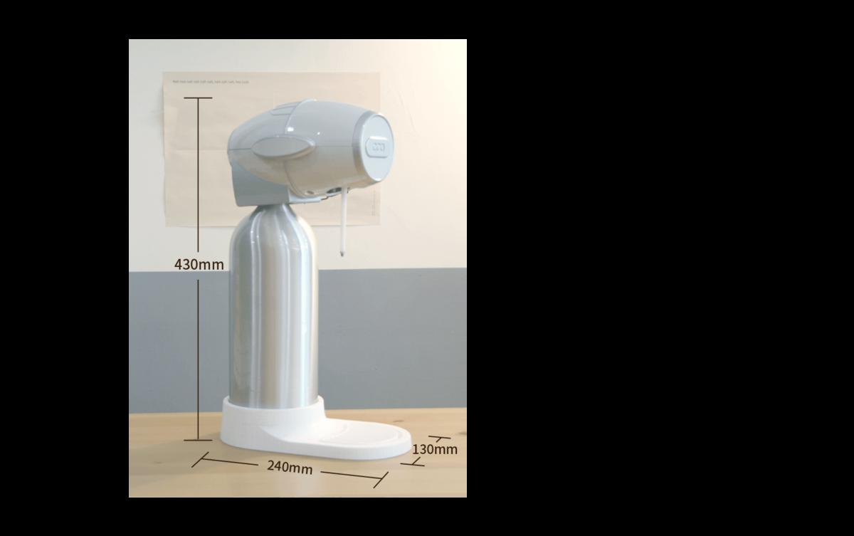 酷泡機整體樣貌模擬圖