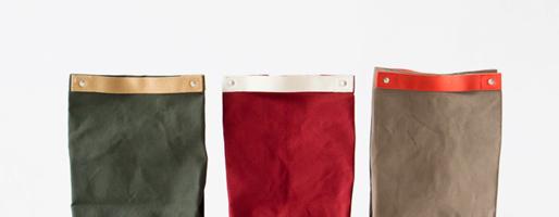 変幻自在に形を変える。kurashiki canvasのBrown bag(ランチバッグ)
