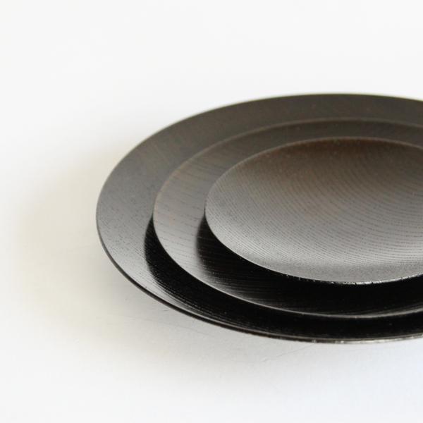 我戸幹男商店/うすびき 皿 黒拭漆