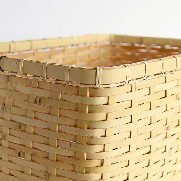 ござ目収納籠 白竹