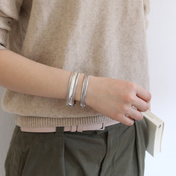 STERLING SILVER BANGLE WIDE SBW6