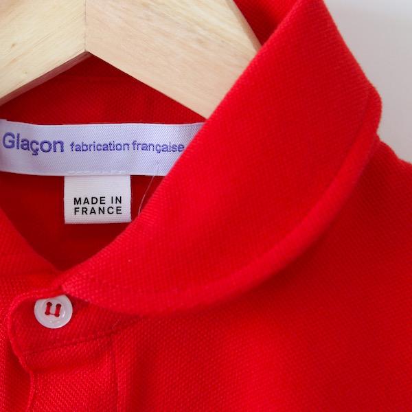 ポロシャツ ラウンドカラー Rouge