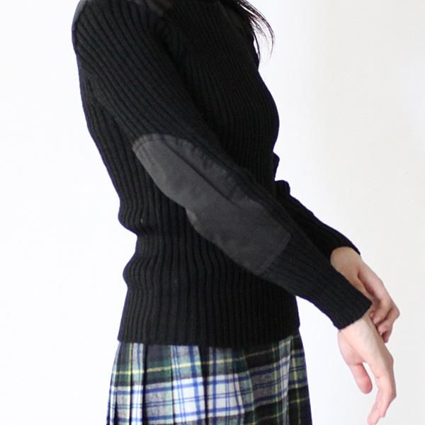 TW Kempton/ウーリー・プーリー クルーネックセーター ブラック