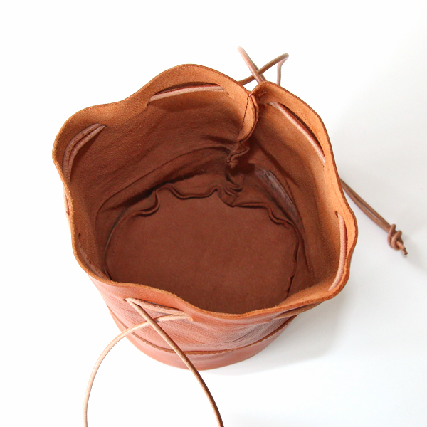 HORSE LEATHER DRAW STRINGS POUCH/S(巾着ショルダー)/ARTS&CRAFTS