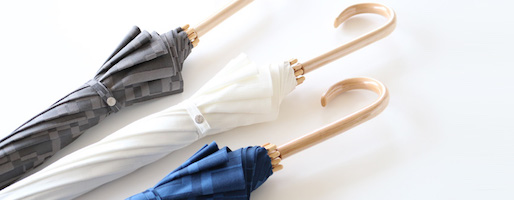 晴れと、とっさの雨に「晴雨兼用傘」。〜槙田商店凸凹ジャカードが生み出す色みの魅力〜