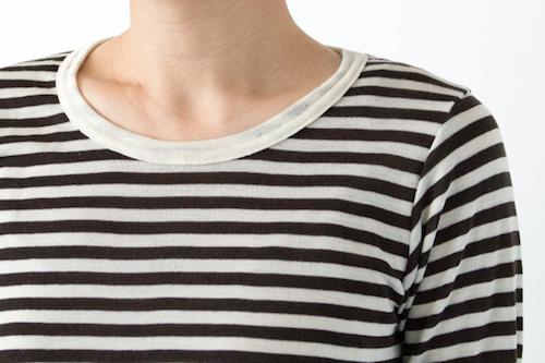 ウールシルク ロングスリーブTシャツ