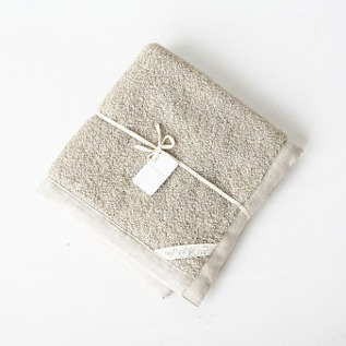 Linen massage bath mat natural
