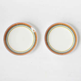 Origo plate 20cm pair set orange
