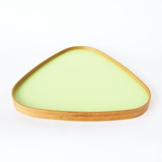 TRAY ONE milky white leaf color triangle