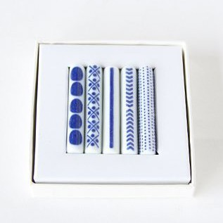 Inban chopstick rest set of 5 Mameshibori-Rice-One-Thank you-Target