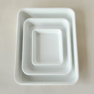 WHITE SERIES ENAMEL TRAY